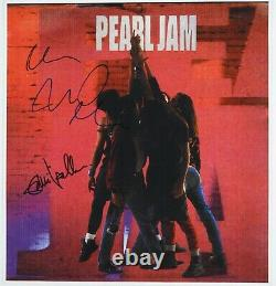 Pearl Jam Autograph JSA Signed 12 x 12 photo of Album Ten Eddie Vedder +