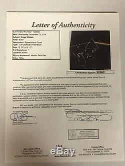 Pink Floyd Roger Waters Autographed Signed Dark Side Album Jsa Coa # Bb28431
