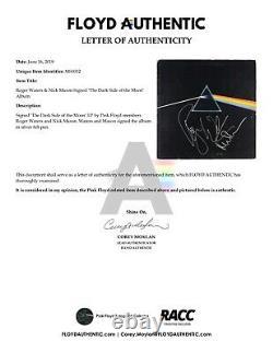 Pink Floyd Roger Waters Nick Mason Dark Side Signed Autograph Album JSA Record