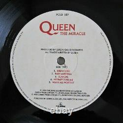 QUEEN Autographed Album Signed Brian May John Deacon Roger Taylor Miracle LP