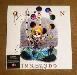 Queen Signed/Autographed Roger Taylor & Brian May Innuendo Album with Coa