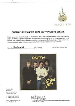 Queen band signed autographed record album! Freddie Mercury! Tracks LOA! 15179