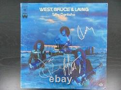 RARE/EARLY West Bruce & Laing Group Signed Album Cover PAAS COA