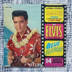 RARE ELVIS PRESLEY BLUE HAWAII SIGNED AUTOGRAPHED RCA ALBUM LP withCOA