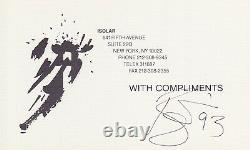 REAL & BAS slabbed DAVID BOWIE signed With Compliments CARD for BTWN album