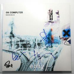 Radiohead Full Band Signed OK Computer Vinyl Album JSA COA Thom Yorke