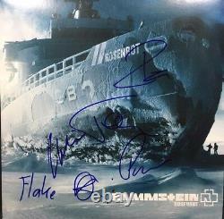 Rammstein Signed Autographed Rosenrot Vinyl Album Till Lindemann Richard ++ Coa
