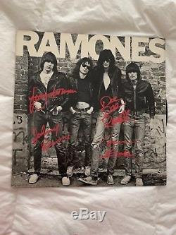 Ramones SIGNED ALBUM Ramones Signed by Band Members