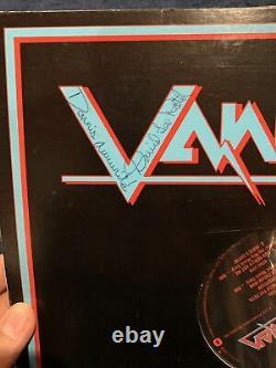 Rare Eddie Van Halen Full Name Signed Van Album with David Lee Roth Beckett COA