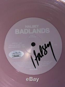 Rare Halsey Signed Autographed Badlands Vinyl Album Pink Record Jsa Coa +proof
