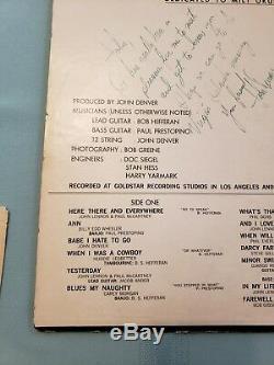 Rare!'John Denver Sings' 1966 private Record Album autographed & personalized
