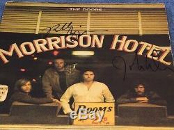 Robby Krieger & John Densmore Signed The Doors Morrison Hotel Record Album LP