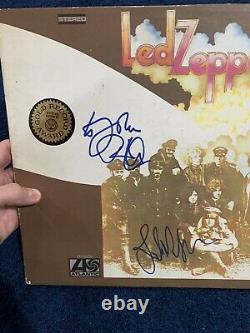 Robert Plant John Paul Jones Signed Album JSA LOA Led Zeppelin 2