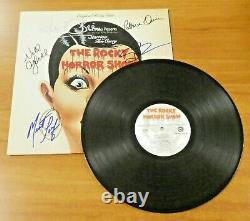 Rocky Horror Picture Show Signed Album with Record Conway Meat Loaf etc