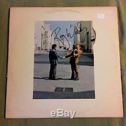 Roger Waters Autographed Pink Floyd Wish You Were Here 1975 Record Album