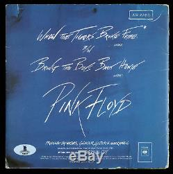 Roger Waters & David Gilmour Signed 45 RPM Album Cover With Vinyl Single BAS
