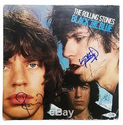 Rolling Stones X3 Autographed Signed Album Record LP ACOA
