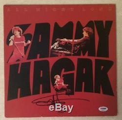 SAMMY HAGAR Autographed Signed ALL NIGHT LONG Record Vinyl Album PSA DNA Certif