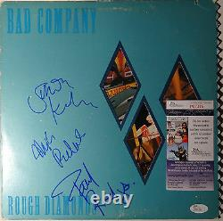 SIGNED BAD COMPANY PAUL RODGERS KIRKE & RALPHS AUTOGRAPHED LP WithPIC JSA P87391