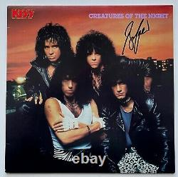 SIGNED by BRUCE KULICK 1985 KISS Album CREATURES OF THE NIGHT Vinyl NO MAKE UP