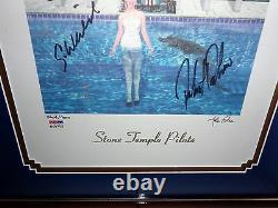 STONE TEMPLE PILOTS STP Tiny Music Litho SIGNED LP ALBUM ART SCOTT WEILAND PSA