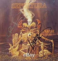 Sepultura Arise Autographed Dutch vinyl LP album record RO9328-1 ROAD RACER