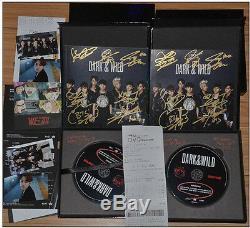 Signed Album BTS Bangtan Boys Dark&Wild JungKook Jimin Jhope SUGA ALL7 Autograph