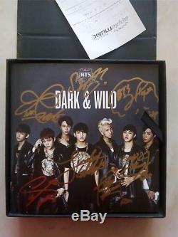 Signed BTS Bangtan Boys DARK&WILD Album Jung Kook Jimin ALL7 Autograph official