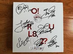 Signed BTS Bangtan Boys O! RUL8.2 RM Jung Kook RM Jimin SUGA Jhope ALL7 Autograph