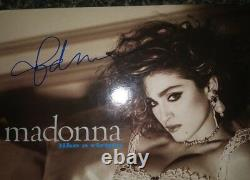 Signed MADONNA LIKE A VIRGIN 12 Record Album LP with Liner autographed auto 1984