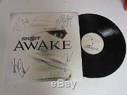 Skillet Autographed Signed Vinyl Album 1 With Signing