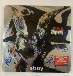 Slipknot Full Band Signed Iowa Album Vinyl Autographed Joey Jordison Rare Coa