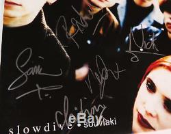 Slow Dive SLOWDIVE Signed Autograph Souvlaki Album Vinyl Record LP by All 5