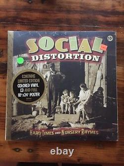 Social Distortion Hard Times And Nursery Rhymes 2LP SIGNED POSTER 1ST PRESS