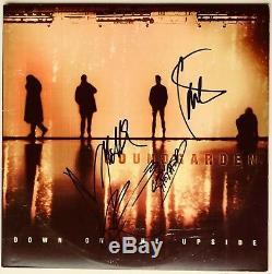 Soundgarden Chris Cornell group signed album down on the upside lp beckett loa