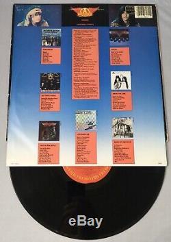 Steven Tyler Joe Perry Aerosmith x4 Signed Record Album PSA/DNA Autographed