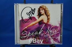 TAYLOR SWIFT Speak Now CD 2010 Big Machine Records SIGNED AUTOGRAPHED