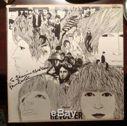 THE BEATLES PAUL McCARTNEY SIGNED REVOLVER RECORD CLUB ALBUM ST-8-2576 COA