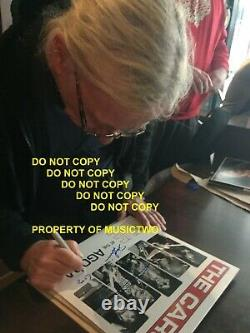 THE CARS Ric Ocasek Signed By 4 Autographed DEBUT Vinyl Album Record Proof withCOA
