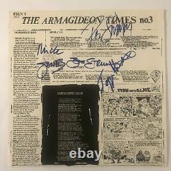 THE CLASH Signed Autograph SANDINISTA Album Record LP LYRICS JSA Authenticatio