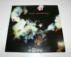 THE CURE ROBERT SMITH SIGNED DISINTEGRATION ALBUM VINYL RECORD LP withCOA PROOF
