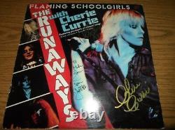 THE RUNAWAYS signed autographed vinyl album. JOAN JETT, LITA FORD & CHERIE CURRIE