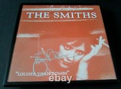 THE SMITHS Johnny Marr SIGNED + FRAMED Louder Than Bombs Vinyl Album PROOF