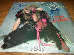 TWISTED SISTER signed/autographed vinyl record album STAY HUNGRY DEE SNIDER +1