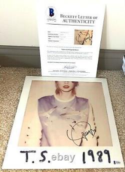 Taylor Swift Signed 1989 Album Vinyl Singer Red Lover Me Folklore Red BAS