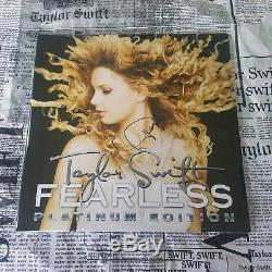 Taylor Swift Signed Fearless LP Record Album Limited to 250 Copies IN HAND