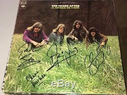 Ten Years After GROUP Signed Autographed A SPACE IN TIME Album LP