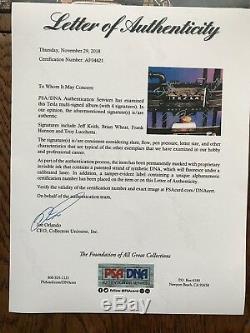 Tesla GROUP Signed Autographed BUST A NUT Album Photo PSA/DNA LOA Jeff Keith