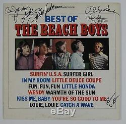 The Beach Boys Signed Autograph Best Of Record JSA Album Brian Wilson Johnston