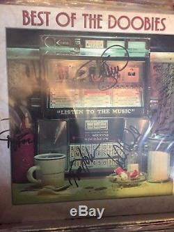 The DOOBIE BROTHERS Best Of hand signed record album autographed